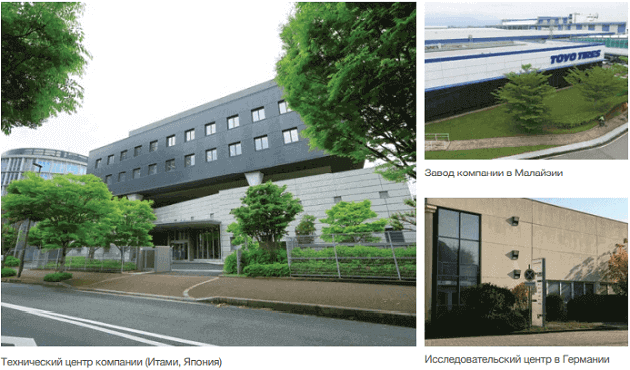 Заводы и исследовательские центры Toyo Tires Фото