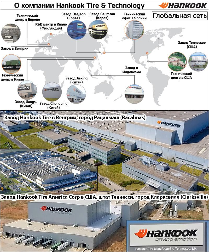 Заводы по производству шин Hankook фото
